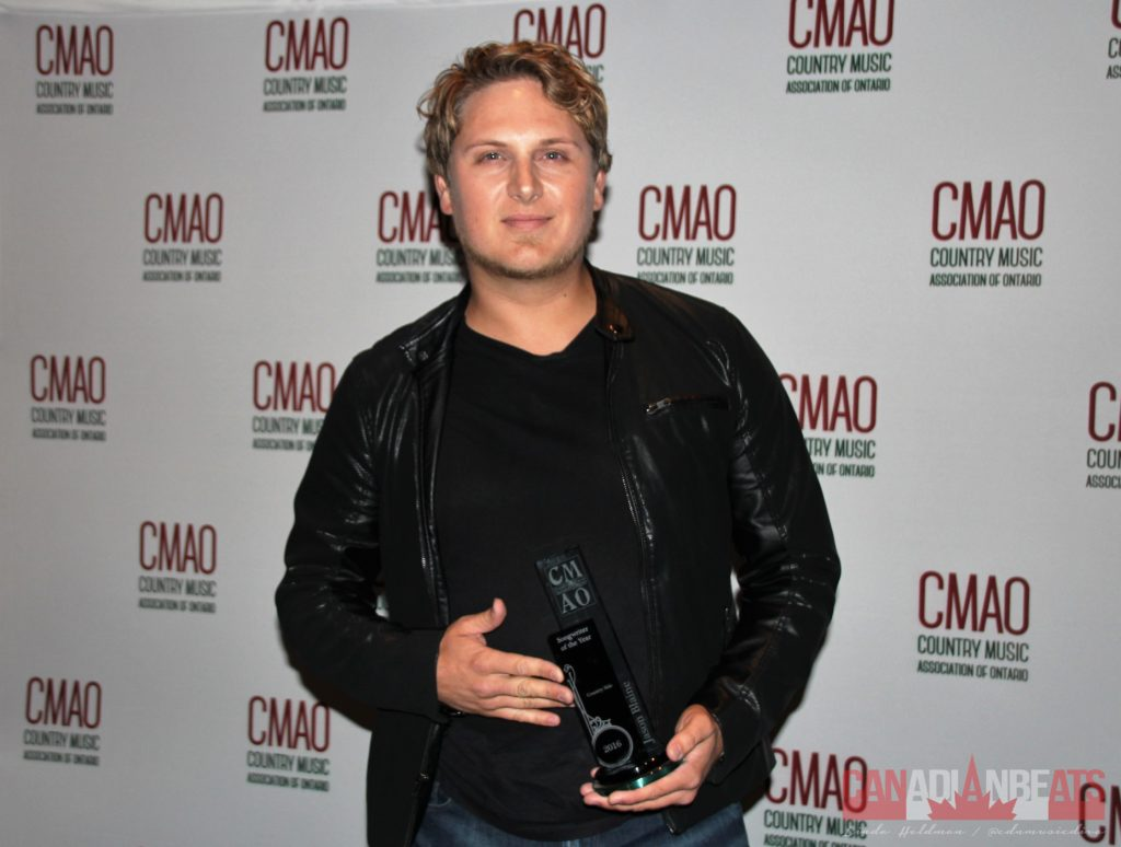 "Jason Blaine - Winner of Male Artist of the Year plus, Music Video of the Year and Songwriter(s) of the Year (with Deric Ruttan) for ""Countryside"""