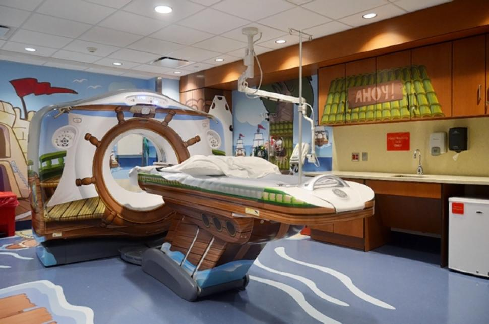 A kid-friendly, pediatric room in New York. (Picture courtesy of The New York-Presbyterian Morgan Stanley Children's Hospital)