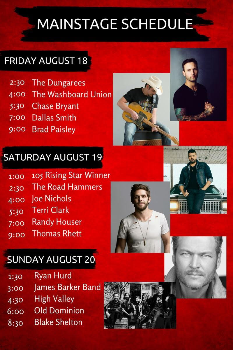 Country Thunder Alberta Releases Main Stage Schedule