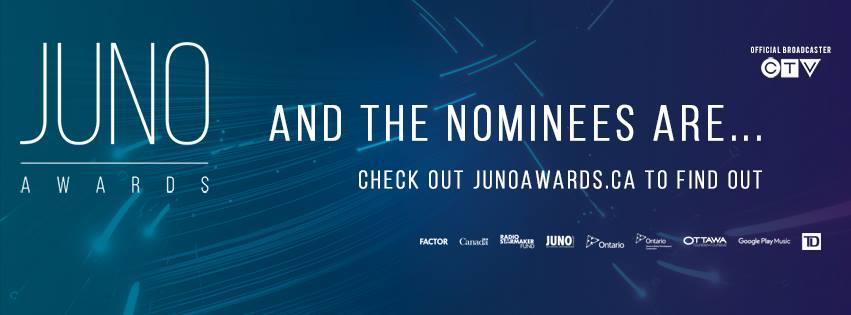 JUNO Award Noms banner