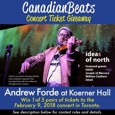 Win tickets to see Andrew Forde at Koerner Hall | Canadian