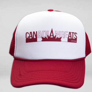 Red & white Hat Front