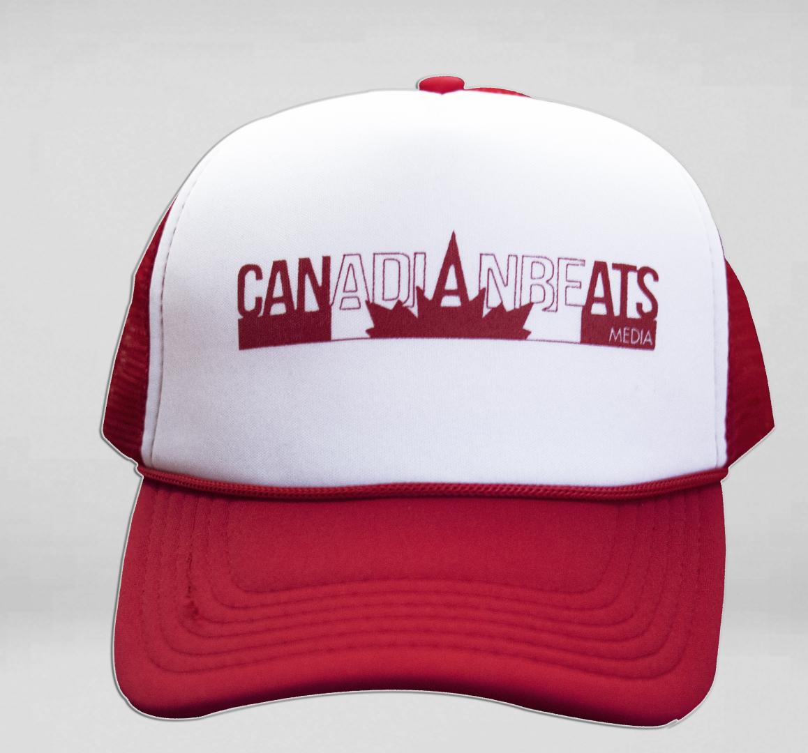 Canadian Beats Logo Trucker Hat – Red White – Canadian Beats Media 9fedf441545