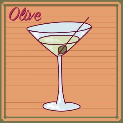 Olive – green empty border