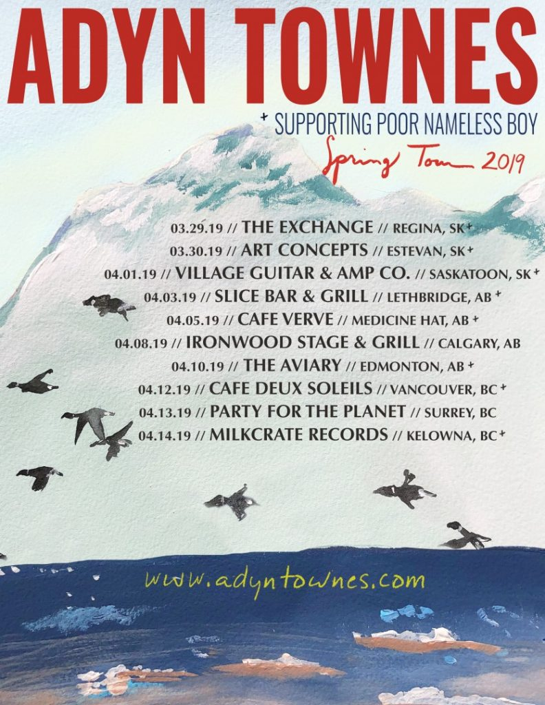 Adyn Townes – West Coast 2019 Tour