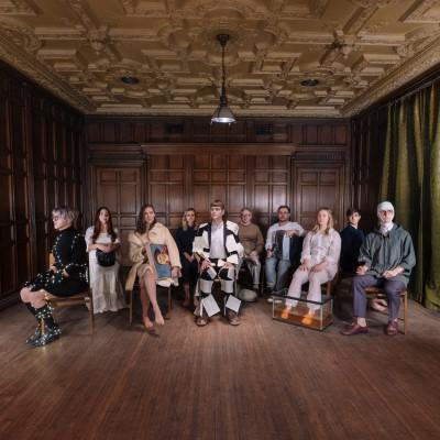 YWM – Ten Seated Figures – Album Cover Artwork