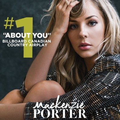 "Mackenzie Porter celebrates her first number one song ""About You"" 