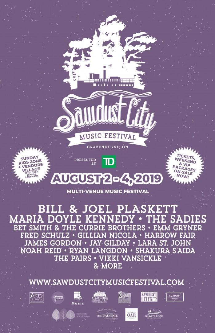 Sawdust City Music Festival announces its 2019 lineup